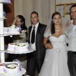 Fotografii tortul miresei filmare nunta Ionut si Oana