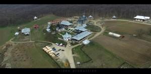 Filmari drona Manastirea Bujoreni